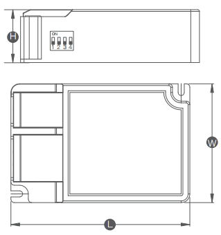 Dimmable driver DLL052-1300BD-01